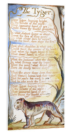 Stampa su schiuma dura  The Tyger - William Blake