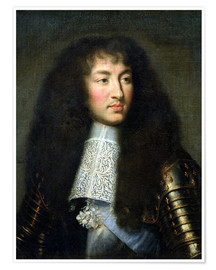 Poster Premium Portrait of Louis XIV