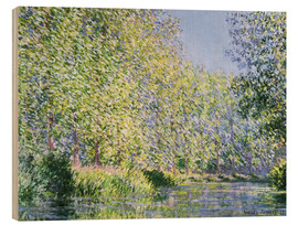 Stampa su legno  Bend the Epte near Giverny - Claude Monet