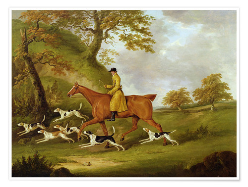 Poster Premium Huntsman and Hounds