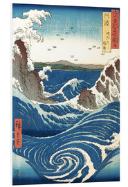 Schiuma dura  View of the Naruto whirlpools at Awa - Utagawa Hiroshige