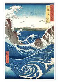 Utagawa Hiroshige - View of the Naruto whirlpools at Awa