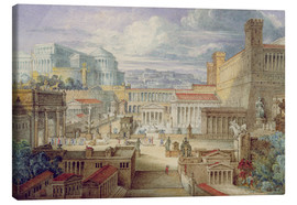 Stampa su tela  A Scene in Ancient Rome - Joseph Michael Gandy