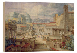 Stampa su legno  A Scene in Ancient Rome - Joseph Michael Gandy