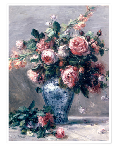 Poster Premium Bouquet di rose in un vaso