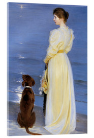 Stampa su vetro acrilico  Summer Evening at Skagen - Peder Severin Krøyer