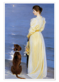 Poster  Summer Evening at Skagen - Peder Severin Kroyer