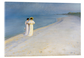 Vetro acrilico  Summer Evening on the Skagen Southern Beach with Anna Ancher and Marie Kroyer - Peder Severin Krøyer