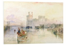 Stampa su schiuma dura  View of Carnarvon Castle - Joseph Mallord William Turner