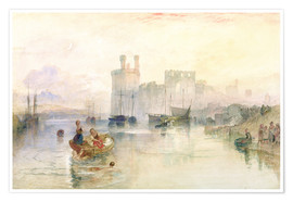 Poster  View of Carnarvon Castle - Joseph Mallord William Turner