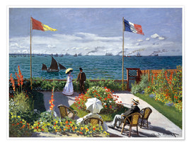 Claude Monet - The Terrace at Sainte-Adresse