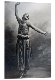 Vetro acrilico  Vaslav Nijinsky in the role of the Black Slave from 'Scheherazade' - French Photographer