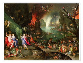 Poster Premium Orpheus with a Harp Playing to Pluto and Persephone in the Underworld