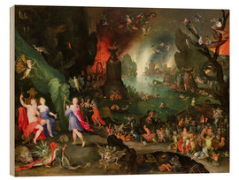 Stampa su legno  Orpheus with a Harp Playing to Pluto and Persephone in the Underworld - Jan Brueghel d.Ä.