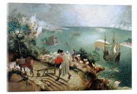Vetro acrilico  Landscape with the Fall of Icarus - Pieter Brueghel d.Ä.