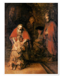 Poster  Return of the Prodigal Son - Rembrandt van Rijn