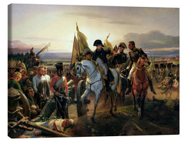 Stampa su tela  The Battle of Friedland - Emile Jean Horace Vernet