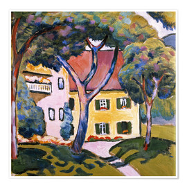 Poster Premium  House in a Landscape - August Macke