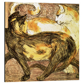Stampa su alluminio  Two cats - Franz Marc