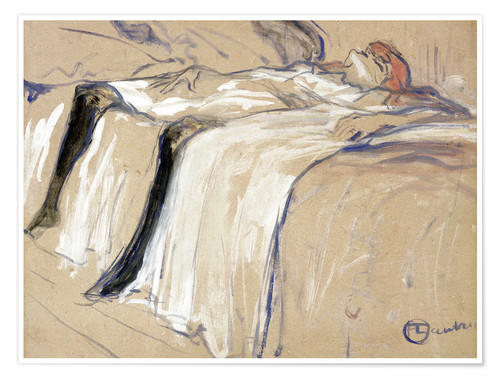 Poster Premium Woman lying on her Back - Lassitude