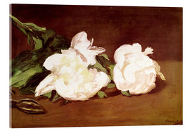 Stampa su vetro acrilico  Branch of White Peonies and Secateurs - Edouard Manet