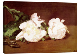 Stampa su tela  Branch of White Peonies and Secateurs - Edouard Manet