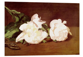 Stampa su schiuma dura  Branch of White Peonies and Secateurs - Edouard Manet