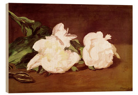 Legno  Branch of White Peonies and Secateurs - Edouard Manet