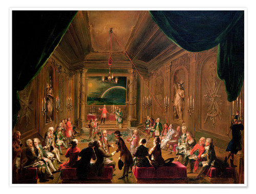 Poster Premium Initiation ceremony in a Viennese Masonic Lodge