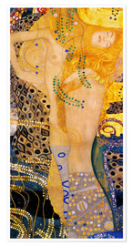 Poster  Water Serpents I - Gustav Klimt