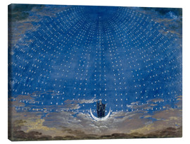 Tela  The Palace of the Queen of the Night - Karl Friedrich Schinkel