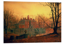 Stampa su schiuma dura  The Haunted House - John Atkinson Grimshaw