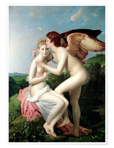 Poster Premium Psyche Receiving the First Kiss of Cupid