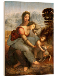 Legno  Virgin and Child with St. Anne - Leonardo da Vinci