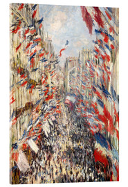 Vetro acrilico  Rue Montorgueil, celebrations June 30 - Claude Monet
