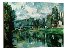 Stampa su alluminio  The Banks of the Marne at Creteil - Paul Cézanne