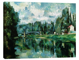 Tela  The Banks of the Marne at Creteil - Paul Cézanne