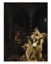 Poster Premium  The Alchymist - Joseph Wright of Derby