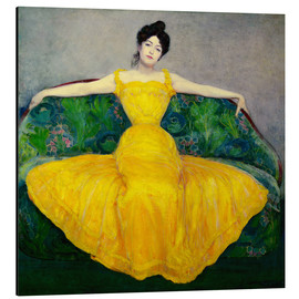 Alluminio Dibond  Lady in a Yellow Dress - Maximilian Kurzweil