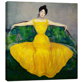 Tela  Lady in a Yellow Dress - Maximilian Kurzweil