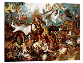 Vetro acrilico  The Fall of the Rebel Angels - Pieter Brueghel d.Ä.