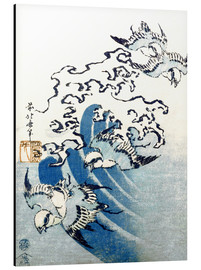 Alluminio Dibond  Waves and Birds - Katsushika Hokusai