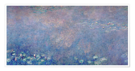 Poster Premium Waterlilies: Two Weeping Willows (detail)