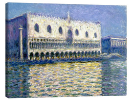 Stampa su tela  The Ducal Palace - Claude Monet