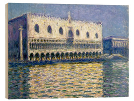 Stampa su legno  The Ducal Palace - Claude Monet