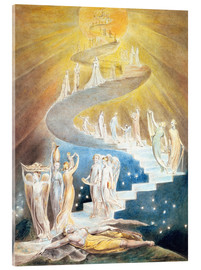 Vetro acrilico  Jacob's Ladder - William Blake