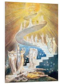 Stampa su schiuma dura  Jacob's Ladder - William Blake