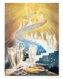 Poster Premium  Jacob's Ladder - William Blake