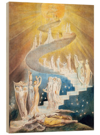Stampa su legno  Jacob's Ladder - William Blake