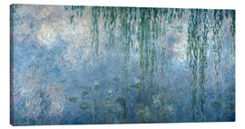 Stampa su tela  Waterlilies: Morning with Weeping Willows - Claude Monet